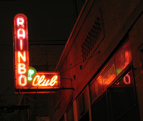 The Rainbo Club was once a favorite hangout for Nelson Algren.  A large portion of his writing was set in this former burlesque club.